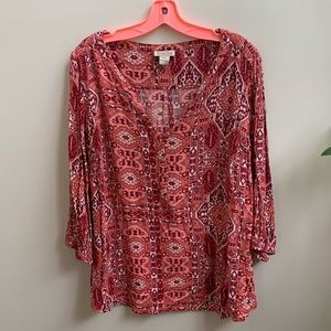 Lucky Brand plus size blouse 2x